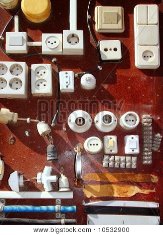 Hardware Electic Equipment Vintage Wood Display Diy