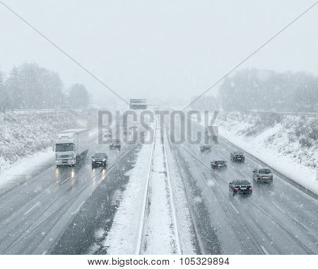 Winter Driving - Commuter Traffic