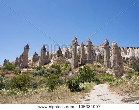 Love valley. Goreme national park at Cappadocia, Turkey
