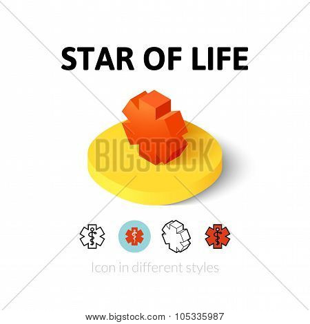 Star of life icon in different style