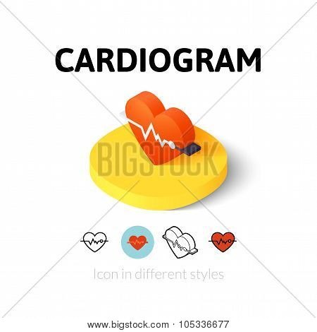 Cardiogram icon in different style