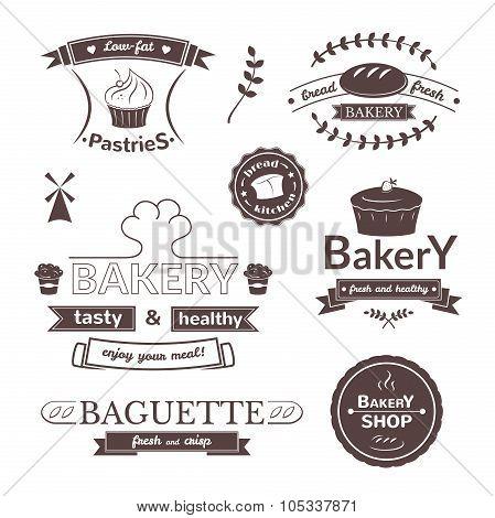 Bakery signs set