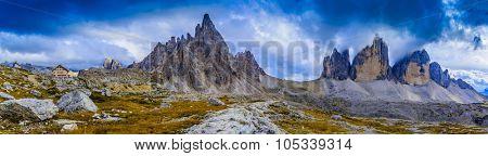 Tre Cime di Lavaredo, Dolomites, Italy, panorama