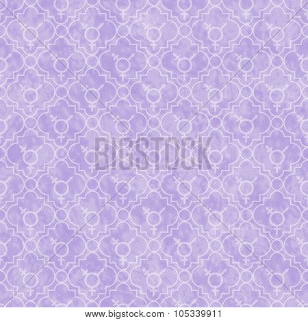 Purple And White Transgender Symbol Tile Pattern Repeat Background