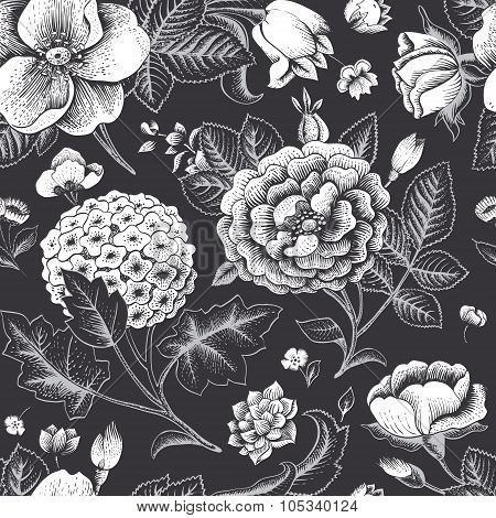 Beautiful vintage floral seamless pattern.
