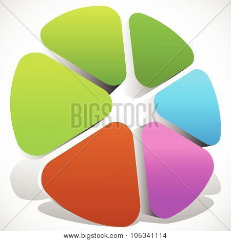 Abstract Colorful Icon, Color Wheel, Color Palette Graphics. Editable Vector