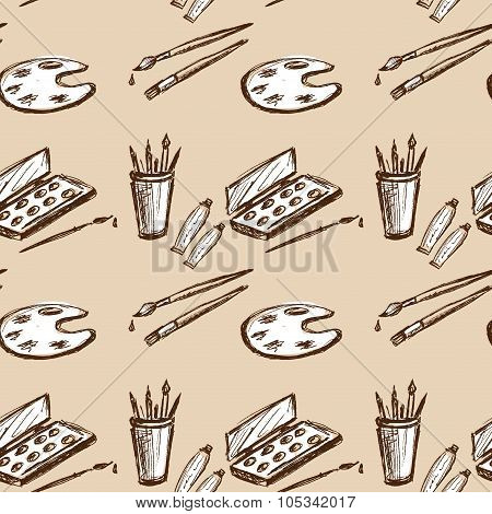 Seamless Pattern Art Tools  .hand Drawing