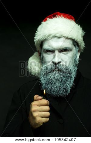 New Year Man With Lighter