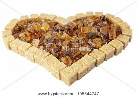 Heart from not refined reed sugar