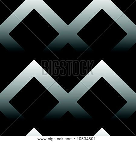 Seamless Pattern Made Of Squares With Gradient Fills. Black And White Vector Background.