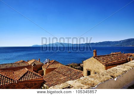 Greek destination, medieval city of Monemvasia