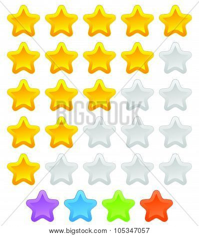 Star Rating Graphic Element For Valuation, Review, Classification Concepts. Vector.