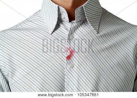 shirt with lipstick mark