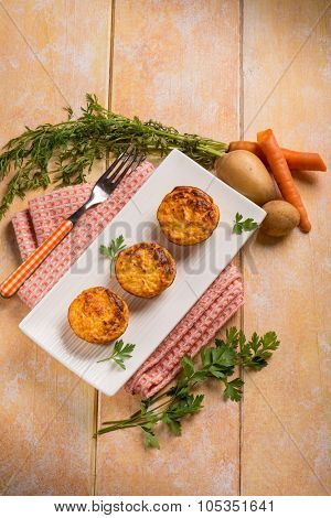carrot and potatoes muffins