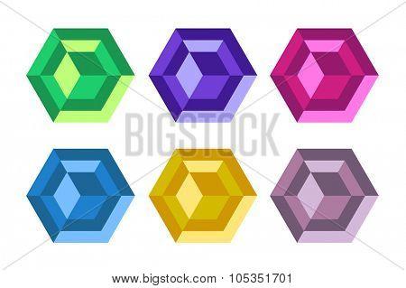 Monogram diamond logo set. Diamond technology icon monogram. Techno style diamond. Jewelry logo technology logo, decor, ornament. Logo design elements. Diamond logo. Modern style. Tech, abstract
