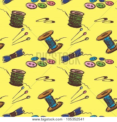 Seamless pattern Sewing Accessories