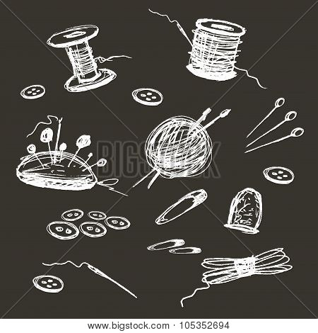 Sewing Accessories background