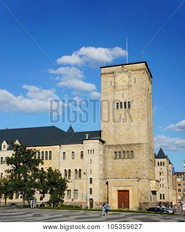 POZNAN POLAND - AUGUST 25 2013: Imperial Caste at the center of the city center
