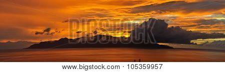 Panoramic Of Brava During Sunset