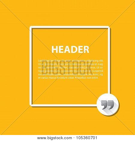 Quote sign icon. Quotation mark