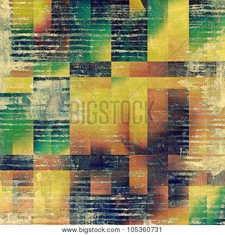 Background in grunge style. With different color patterns: yellow (beige); brown; blue; green