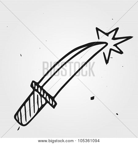 Vector Dagger, Hand Drawn Dirk