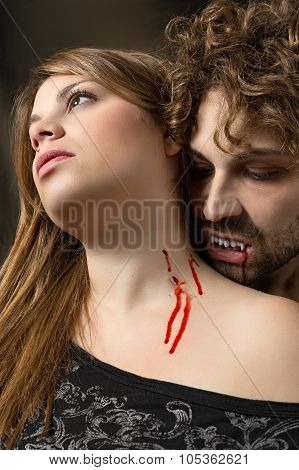girl bitten by a vampire