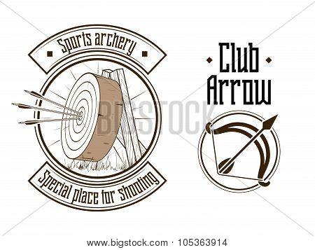 Archery logo vector illustration