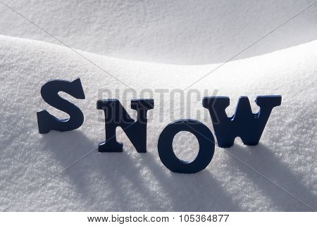 Blue Word Snow