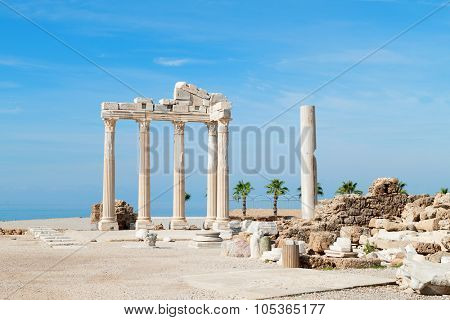 Temple of Apollo ancient ruins, Turkey.
