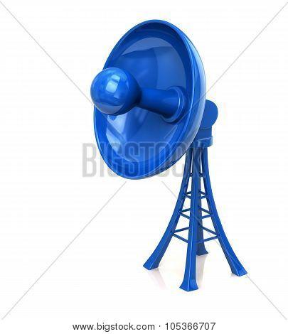 3d illustration of technology satellite dish antenna