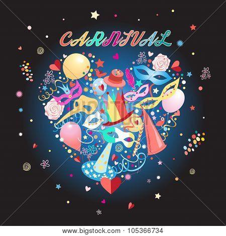 heart pattern carnival items