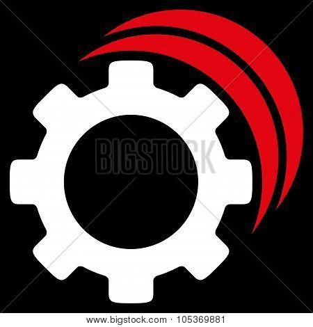 Gears Flat Icon