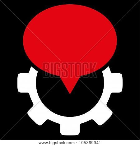 Industry Map Marker Flat Icon