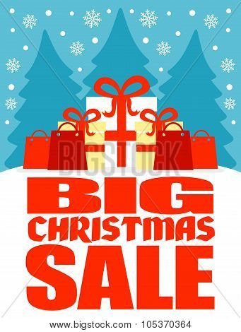 Big Christmas sale poster