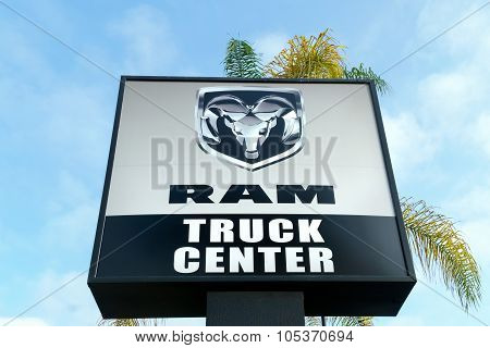 Dodge Ram Truck Sign And Logo