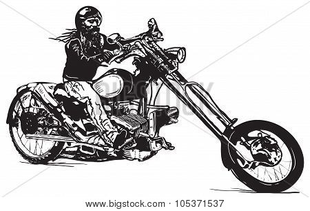 An Black Rider, An Hand Drawn Vector, Freehand