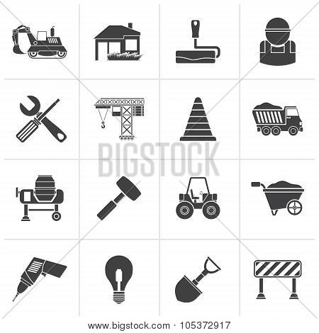 Black Building and construction icons
