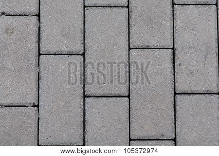 detail of interlocking concrete pavement - texture