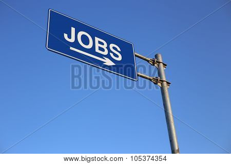Jobs Road Sign