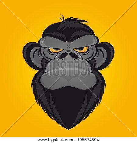 angry ape cartoon