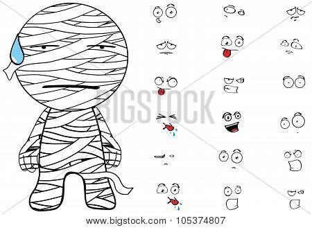 mummy cartoon emotions