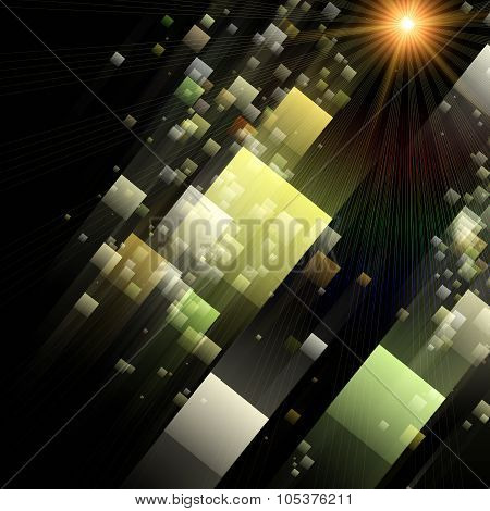 Futuristic Abstract Square Background Design Illustration With Light