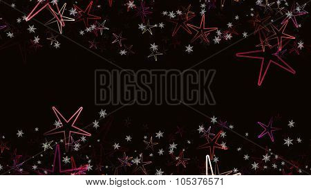 Wonderful Christmas Background Design With Stars And Snowflakes