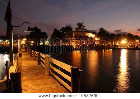Docks and Restaurants along the Jupiter Inlet