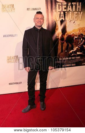 LOS ANGELES- OCT 17:Composer Sean Beavan arrives at the