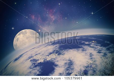 Far Away. Universe. Abstract Science Backgrounds. Nasa Imagery Used