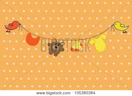 Orange Clothes Line