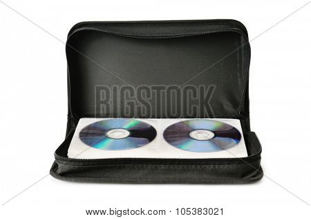Bag for digital disks isolated on white