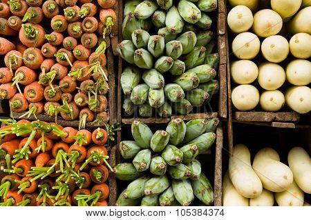 Tropical Vegetables On Display